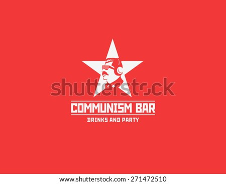 communism style logo restaurant
