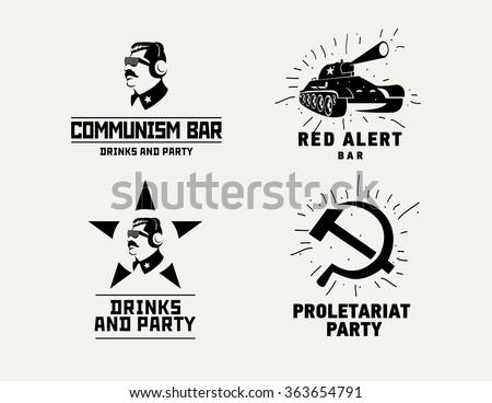 communism style logos