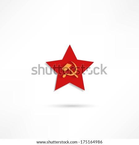 communist red star with hammer