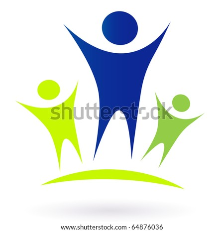 Community - Adult and children vector. Vector pictogram inspired by people, family, love, nature and togetherness.
