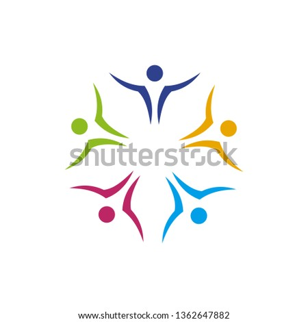 Community and adoption care logo design vector template #1362647882