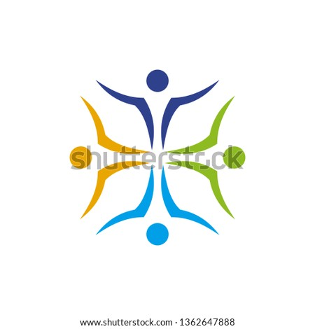 Community and adoption care logo design vector template #1362647888