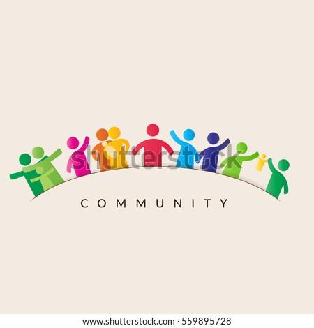community concept   pictogram