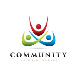Community Icon Logo Elements