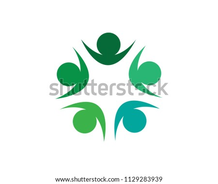 community logo people template vector icon #1129283939
