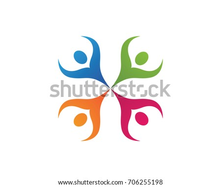 Community people care logo and symbols template  #706255198