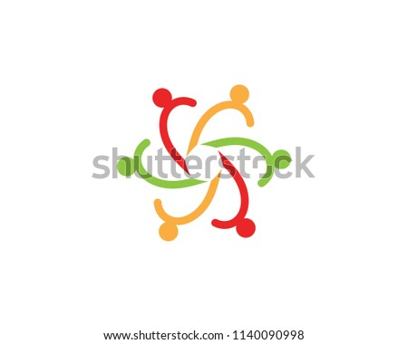 Community people care logo vector template