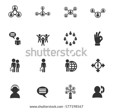 community vector icons for user interface design
