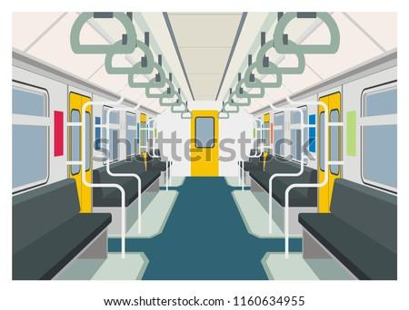 commuter train interior simple