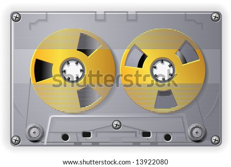 Compact Audio Cassette with tape