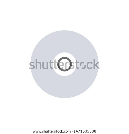 compact-disc icon. flat illustration of compact-disc - vector icon. compact-disc sign symbol