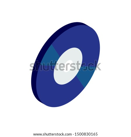 compact-disc isometric 3d vector icon blue