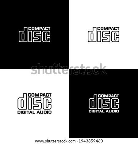 Compact disc vector sign. Isolated digital audio logo icon design. Сток-фото ©