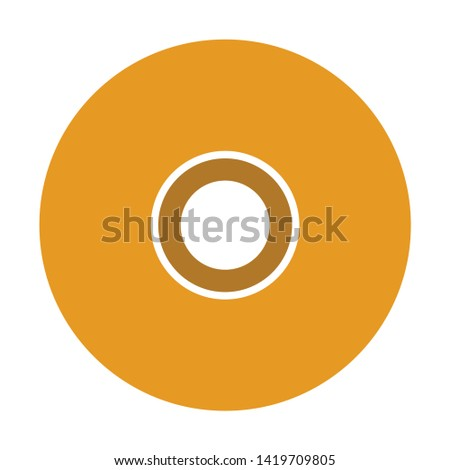 Compact disk. Cd or DVD icon. flat illustration of Compact disk. Cd or DVD vector icon for web