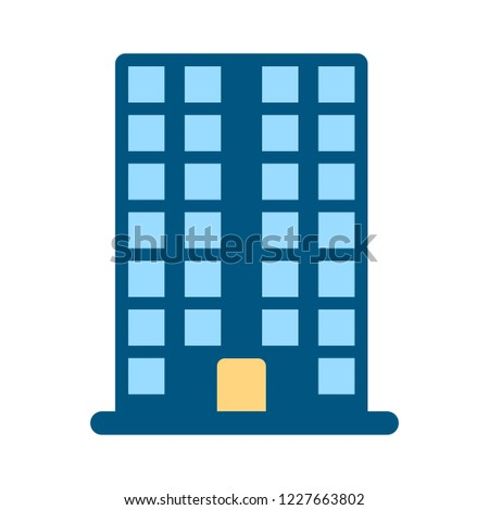 Company building isolated on white background. Vector Company building illustration. Flat style Company building icon