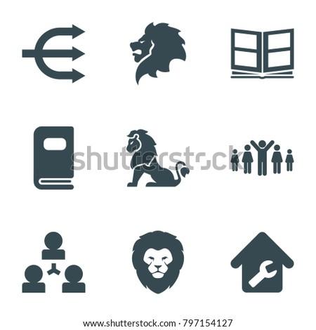 company icons set of 9