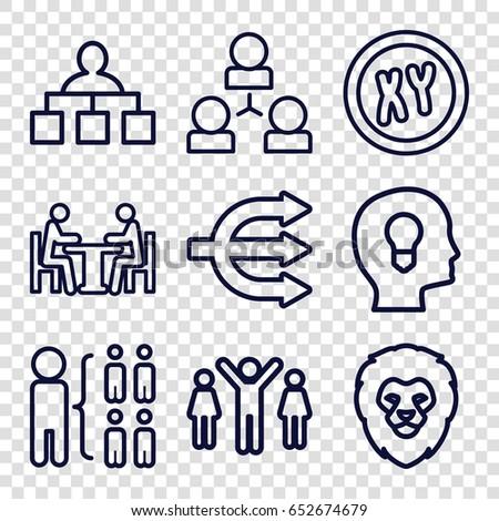 company icons set set of 9