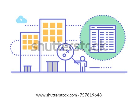 Company inspection for business concept in modern line modern style