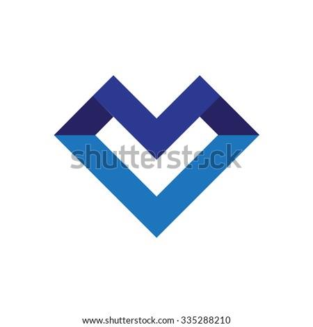 Company Logo Design. Stock Vector Illustration. Blue