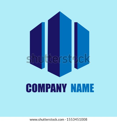 Company logo in blue combination. Building Companies, Property Companies, and other companies.