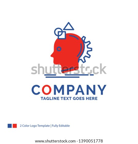 Company Name Logo Design For Imagination, imaginative, imagine, idea, process. Blue and red Brand Name Design with place for Tagline. Abstract Creative Logo template for Small and Large Business.