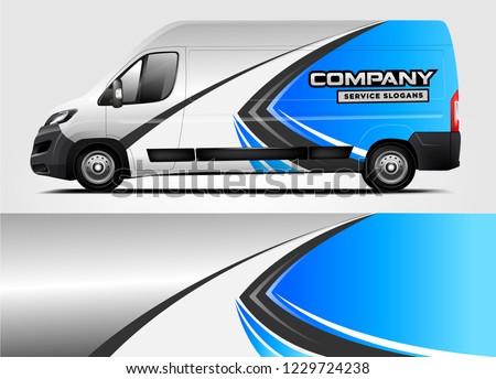 Company van Wrap Design. Ready print wrap and decal design.