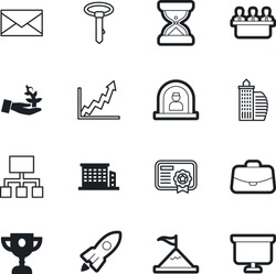 company vector icon set such as: message, measure, doodle, top, environment, nature, ecology, website, plant, working, care, fashion, formal, peak, mail, climb, reception, cup, trophy, galaxy