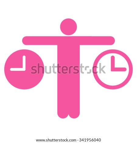 compare time vector icon style