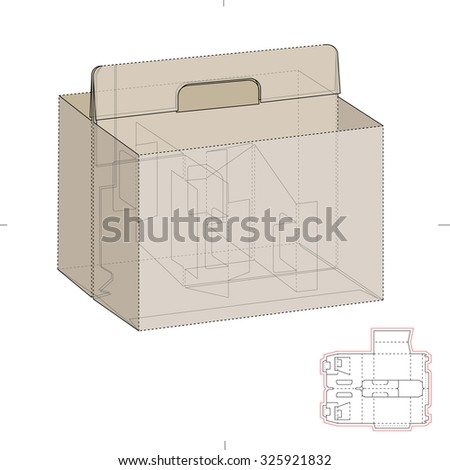 Royalty free six pack carrier box with die cut 344354048 stock compartmentalized tray box with die line template 325921832 pronofoot35fo Images