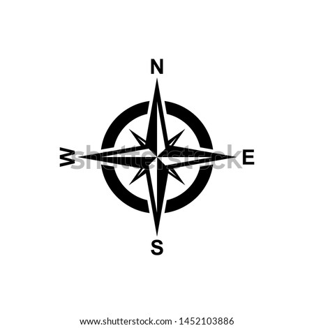 Compas icon isolated on background. Modern flat compass pictogram, business, marketing, internet concept. Trendy Simple vector symbol for web site design or button to mobile app. Logo illustration. Photo stock ©