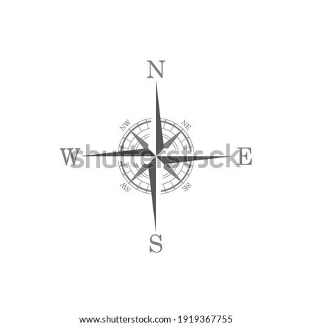 Compas icon on white background.  商業照片 ©