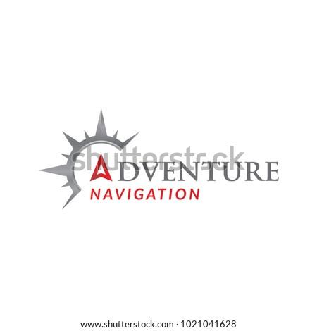 compass adventure logo icon vector template
