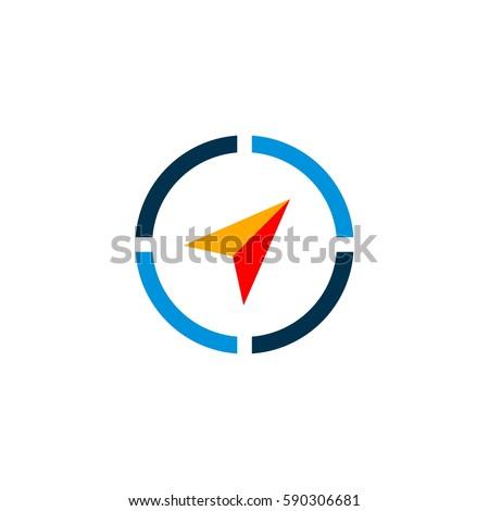 Compass Arrow Logo Template