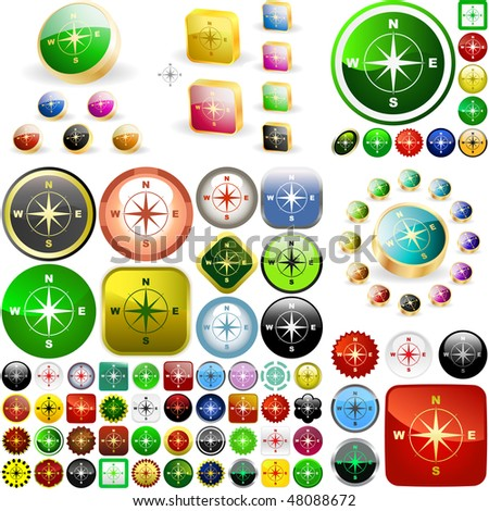 Compass buttons. Great collection.