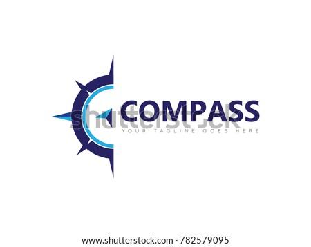 compass concept logo, icon, symbol, ilustration design template