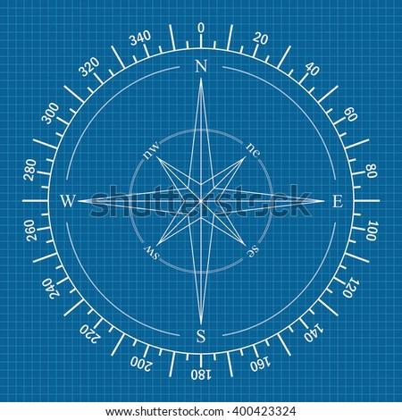 compass dial vector