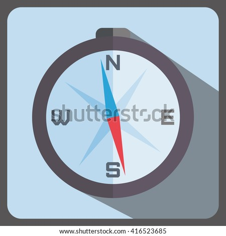 compass flat style icon