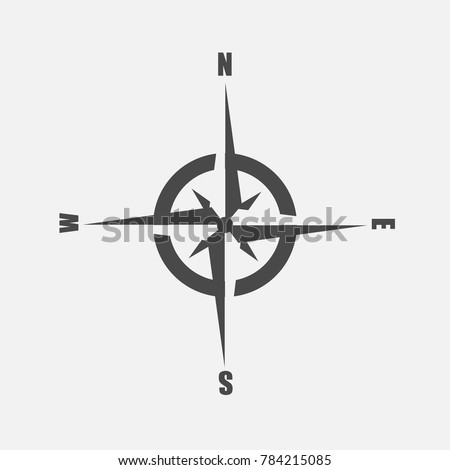 compass for direction and location north east west and south directions vector icon