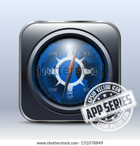 Compass Icon. App Series