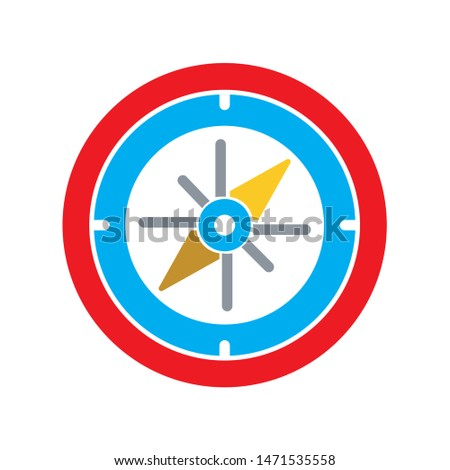 compass icon. flat illustration of compass - vector icon. compass sign symbol