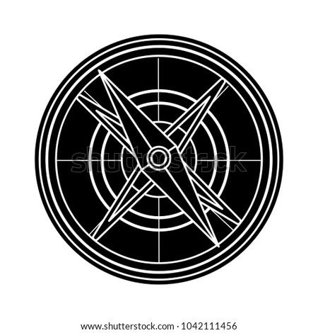 compass icon isolated symbol
