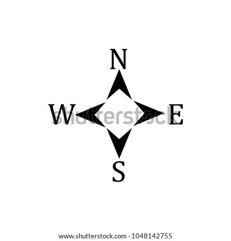 compass icon logo vector