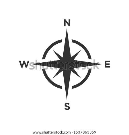 Compass icon vector symbol illustration EPS 10