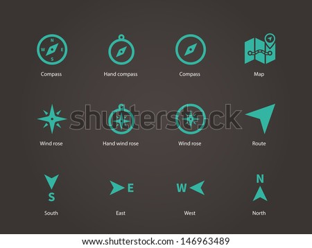 Compass icons. Vector illustration. Photo stock ©
