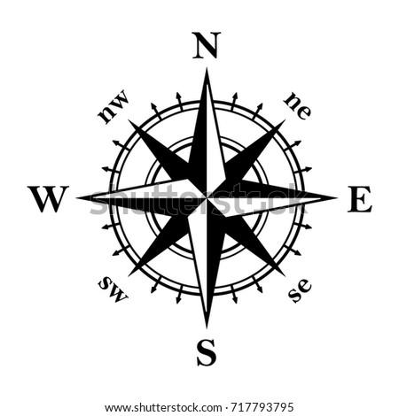 Compass Illustration. Vector.