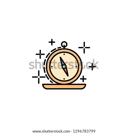 compass, maps, orientation, cursor icon. Element of history color icon for mobile concept and web apps. Color compass, maps, orientation, cursor icon can be used for web and mobile