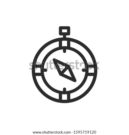 compass, navigation, direct vector icon.