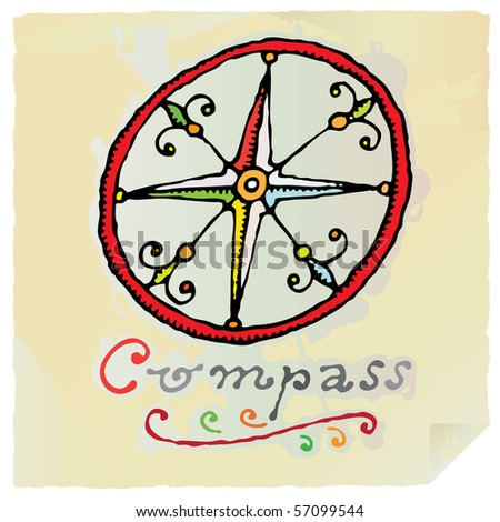 Compass Rose Drawing Draw Simple Compass Rose Icon
