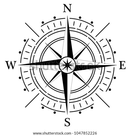 compass rose for marine or