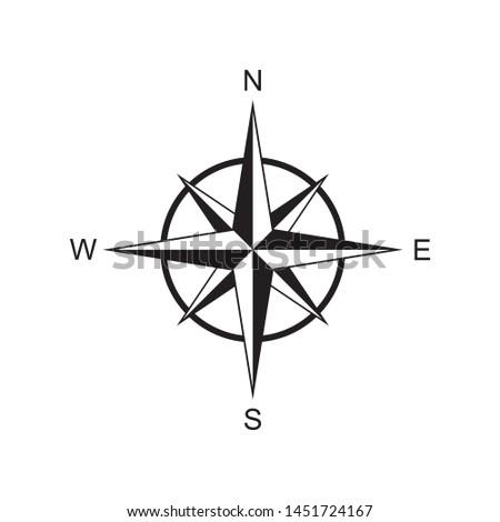 compass rose icon vector illustration
